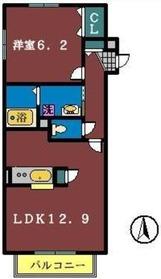 セリシール1階Fの間取り画像