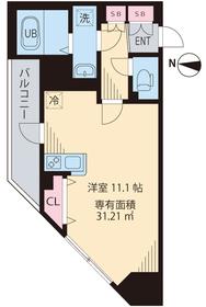 ルアナ亀戸5階Fの間取り画像