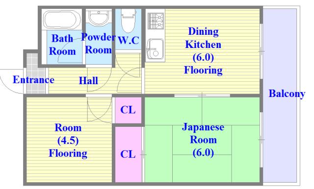 OMレジデンス八戸ノ里 各部屋がゆったりとした、ファミリータイプの間取り。