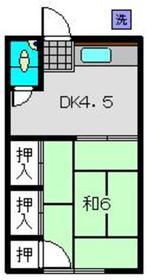 光麟荘2階Fの間取り画像
