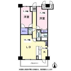 メディオ山田9階Fの間取り画像