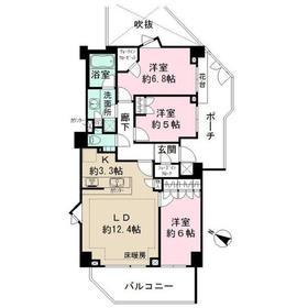 パークハウス フォレストリエ3階Fの間取り画像