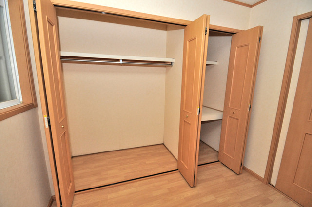 ジャルディーノ弐番館 もちろん収納スペースも確保。いたれりつくせりのお部屋です。
