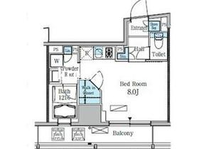 レジディア九段下II3階Fの間取り画像