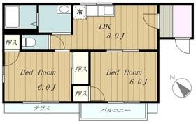 ディアタウンⅠ1階Fの間取り画像