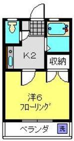 Adan House1階Fの間取り画像