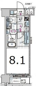 メインステージ森下Ⅱ2階Fの間取り画像
