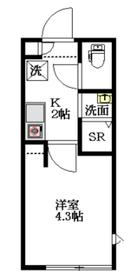THE ROOM'S中野本町3階Fの間取り画像