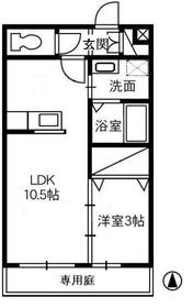 カンパーニャ・エフ A1階Fの間取り画像