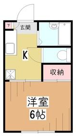 ロジュマン久米川1階Fの間取り画像