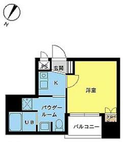 スカイコート日本橋第34階Fの間取り画像