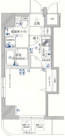 ザ・プレミアムスイートヨコハマ7階Fの間取り画像