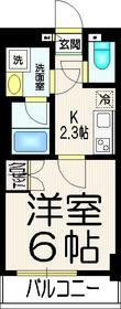 ナビウス西新宿5階Fの間取り画像