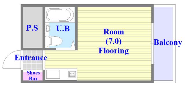 大宝菱屋西CTスクエア シンプルなユニットバスのお部屋でです。
