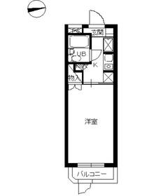 スカイコート横浜南太田1階Fの間取り画像