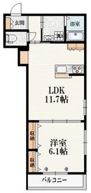 (仮称)武蔵台3丁目メゾン2階Fの間取り画像
