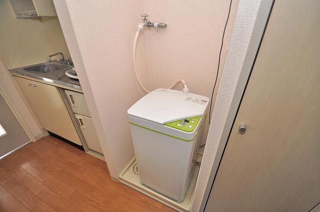 デ・リード高井田駅前 室内に洗濯機置き場があれば雨の日でも安心ですね。