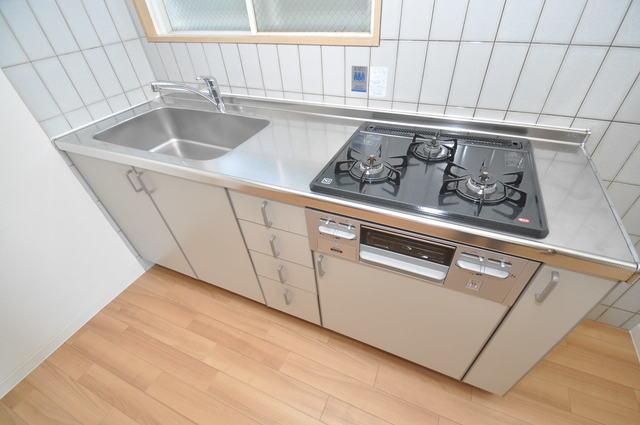 ゴッドフィールドⅡ システムキッチンは広々と使えて、お料理が楽しくなります。
