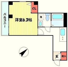 京王稲田堤駅 徒歩4分3階Fの間取り画像