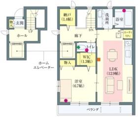 経堂駅 徒歩22分2階Fの間取り画像