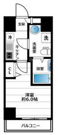グランヴァン横濱南6階Fの間取り画像