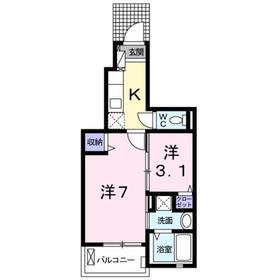 片倉駅 徒歩10分1階Fの間取り画像