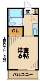 ベラクリヒラ2階Fの間取り画像