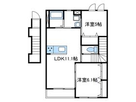 (仮)今里新築アパート2階Fの間取り画像