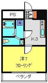 朝日ヶ丘ニュースカイマンション8階Fの間取り画像