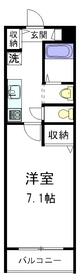 コーポDEW3階Fの間取り画像