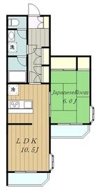 ライオンズマンション中央林間第103階Fの間取り画像
