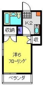 メゾンUTSU3階Fの間取り画像