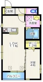 グランソレイユ2階Fの間取り画像