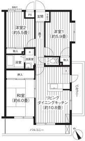 ソレイユモトニ3階Fの間取り画像