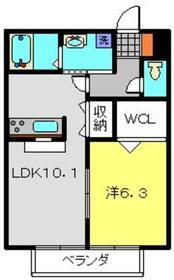 ディア・ロードR1階Fの間取り画像