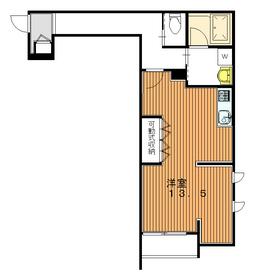 エンプレス チエ2階Fの間取り画像