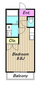 ハートハウス3階Fの間取り画像