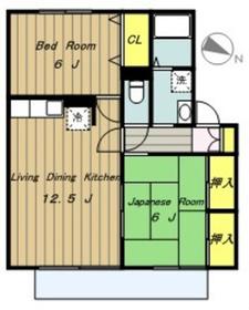 ボナールハウスI1階Fの間取り画像