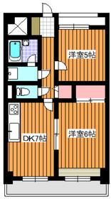 カーサメディオ2階Fの間取り画像