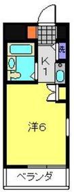 ダイアパレス三ツ沢公園西館4階Fの間取り画像