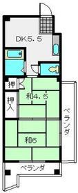 新川崎駅 徒歩18分4階Fの間取り画像