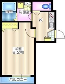 メゾン オーク2階Fの間取り画像