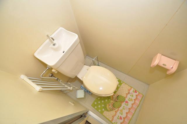 プレジデント楠 清潔感のある爽やかなトイレ。誰もがリラックスできる空間です。