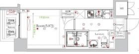 フェルクルールプレスト西横浜2階Fの間取り画像