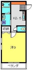 ヴェルフルール3階Fの間取り画像