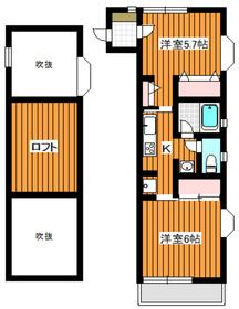 下赤塚駅 徒歩16分2階Fの間取り画像