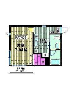 ベイヒルズ横濱1階Fの間取り画像