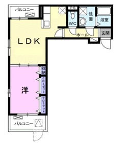 ヴィラセナーレⅡ3階Fの間取り画像