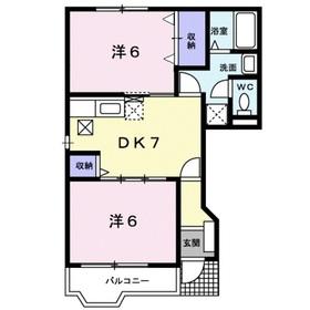 ブルックヒル1階Fの間取り画像