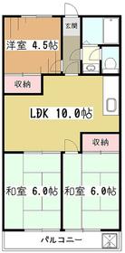 師岡マンション2階Fの間取り画像